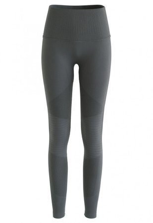 High-Rise Fitness Yoga Leggings in Olive - NEW ARRIVALS - Retro, Indie and Unique Fashion