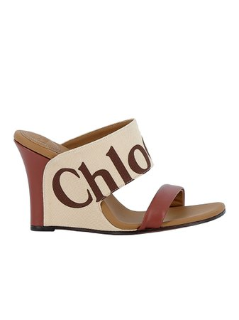 Chloe' Mild Beige Fabric/leather Sandals