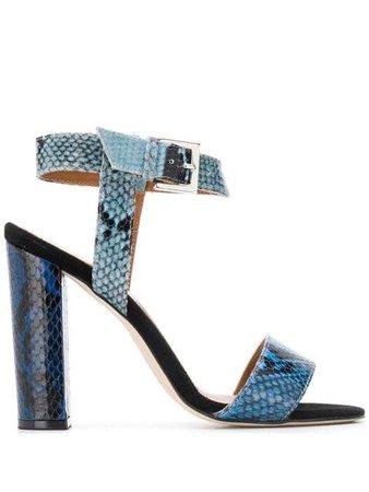 Paris Texas Snakeskin Effect Sandals - Farfetch