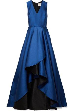 JASON WU Asymmetric satin-crepe gown