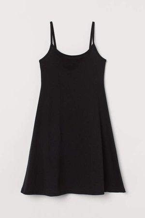 Sleeveless Jersey Dress - Black