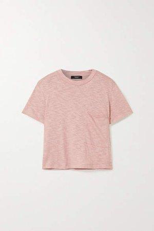 Twenty Montréal TWENTY Montreal - Brooks Cropped Slub Jersey T-shirt - Antique rose
