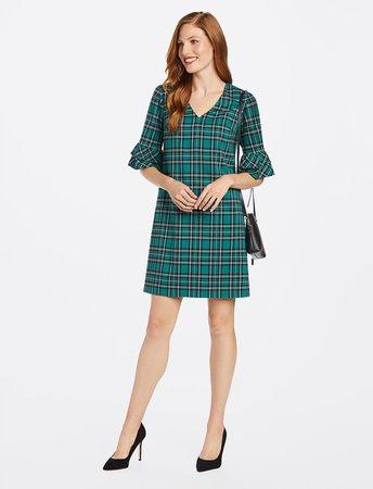 Ruffle Sleeve Shift Dress*