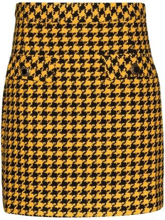 Rixo Houndstooth Pattern Mini Skirt - Farfetch