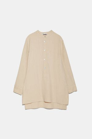 BLOUSE WITH CONTRAST BUTTONS | ZARA United Kingdom