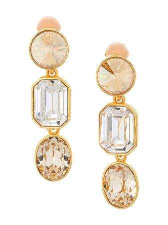 Oscar de la Renta, gem-embellished drop earrings