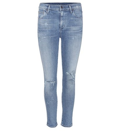Rocket distressed high-rise skinny jeans