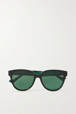 Black Generation round-frame acetate sunglasses   Gucci   NET-A-PORTER