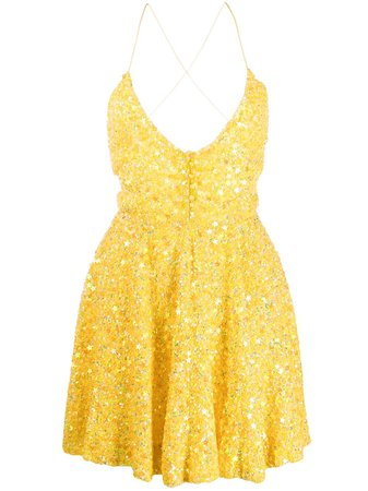 Retrofete Star Embroidered Flared Dress