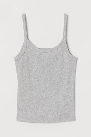 Ribbed Tank Top - Gray