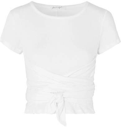 The Line By K - Jeanne Knotted Cotton-jersey T-shirt - White
