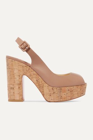 Christian Louboutin   Dona Anna 120 leather slingback platform sandals   NET-A-PORTER.COM