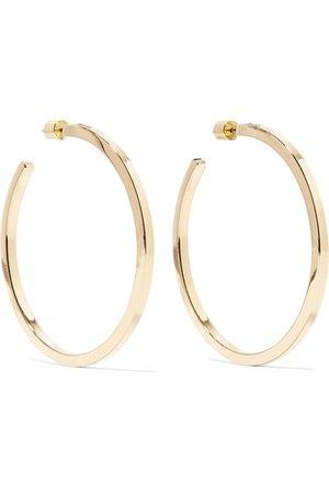 Jennifer Fisher | Shane gold-plated hoop earrings | NET-A-PORTER.COM
