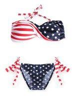 American Flag Patriotic Bandeau Bikini