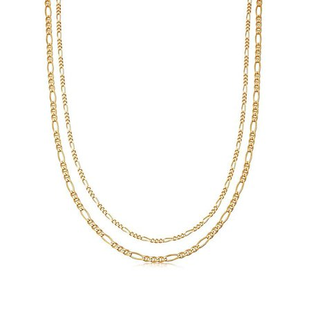 Gold Filia Double Chain Necklace | Missoma Limited