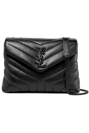 YSL Loulou small quilted leather shoulder bag black