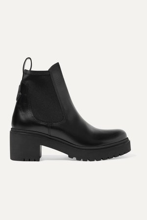 Vera Leather Chelsea Boots - Black