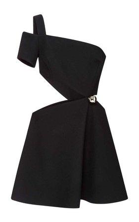 Bonded Crepe Cut-Out One Shoulder Dress - MUGLER Resort 2016