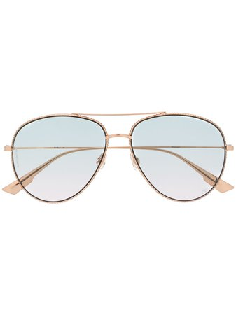 Dior Eyewear DiorSociety3 Aviator Sunglasses - Farfetch