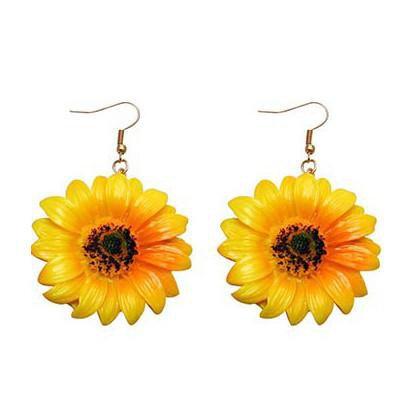 Sunflowers Earrings – Boogzel Apparel