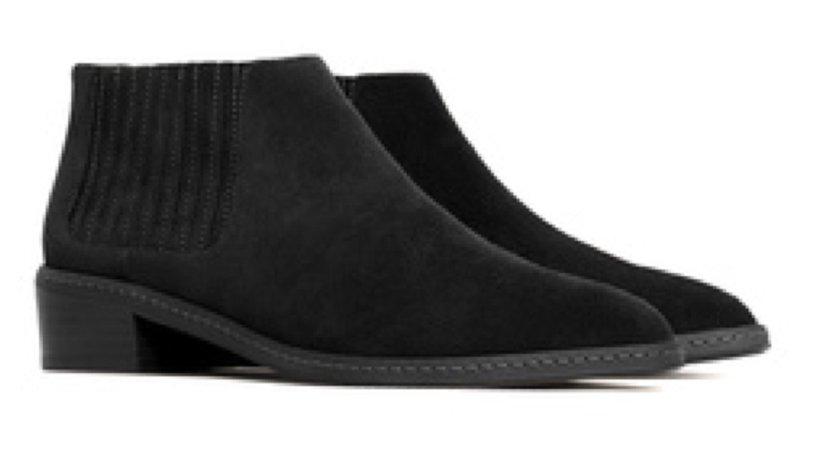 black boots mango