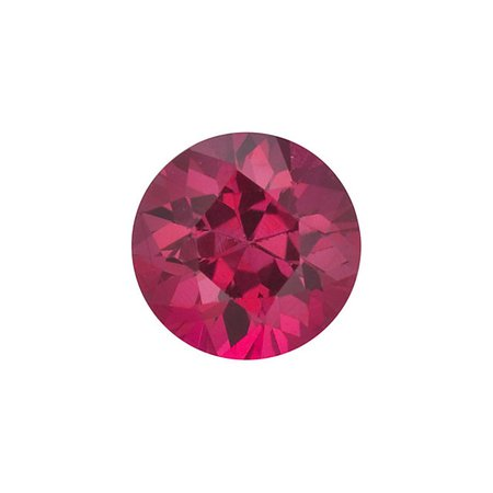 1.25mm Round Diamond-cut B Ruby | Stuller
