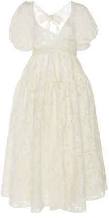 Cecilie Bahnsen Theodora Lace Wrap Midi Dress