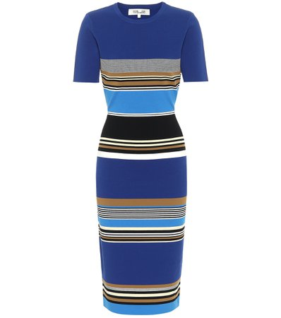 Diane von Furstenberg - Dasha striped knit midi dress | Mytheresa