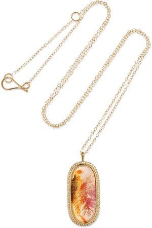 Melissa Joy Manning | 14-karat gold, dendritic agate and diamond necklace | NET-A-PORTER.COM