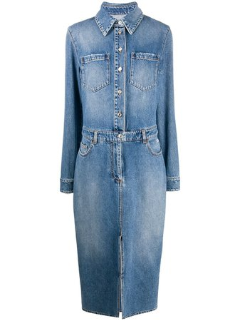 MSGM Denim Shirt Dress - Farfetch