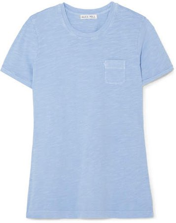 Slub Cotton-jersey T-shirt - Blue