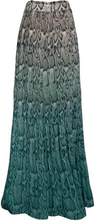 Rocco Plisse Pleat High Waist Maxi Skirt
