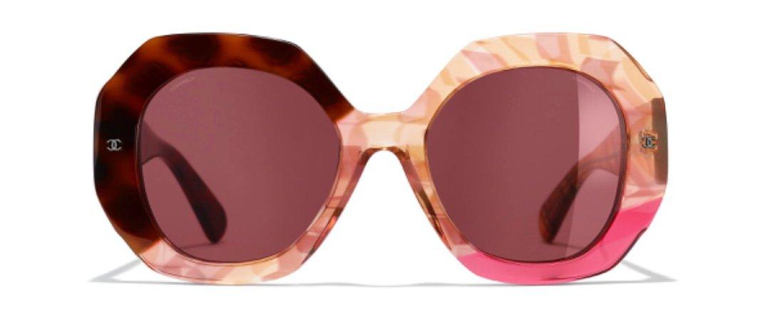 Chanel Round Acetate Sunglasses