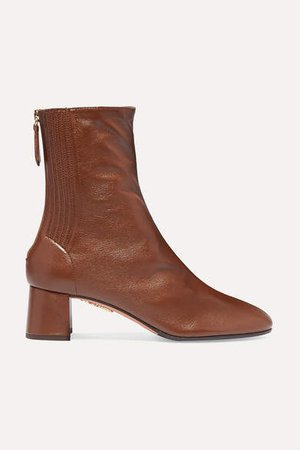 Saint Honore 50 Leather Ankle Boots - Tan