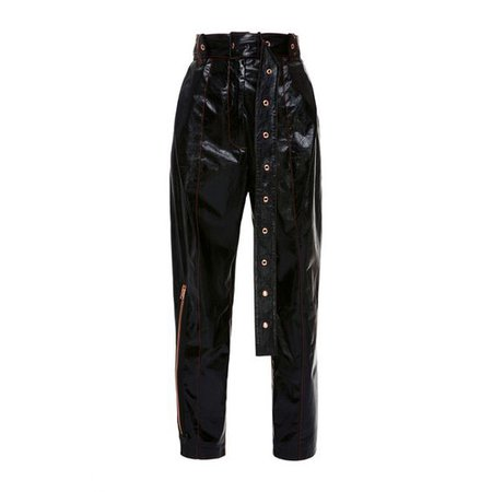 Proenza Schouler Belted Patent Leather Pant