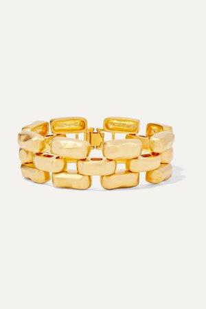 Gold Gold-tone bracelet | Kenneth Jay Lane | NET-A-PORTER