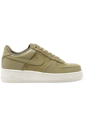 Air Force 1 '07 LX suede-trimmed leather sneakers
