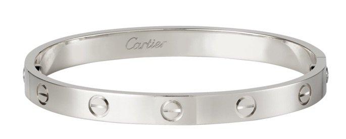 silver cartier bracelet