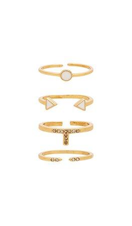 Ettika Last Lover Ring Set in Gold | REVOLVE