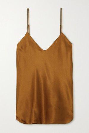 Isabella Silk-satin Camisole - Gold