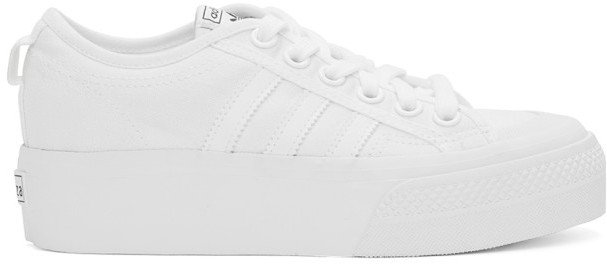 White Nizza Platform Sneakers