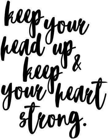 Amazon.com: My Vinyl Story Keep Your Head Up Keep Your Heart Strong Wall Decal Inspirational Wall Decal Motivational Office Decor Quote Motivated Positive Wall Art Vinyl Gym Sticker School Classroom Decor: Home & Kitchen