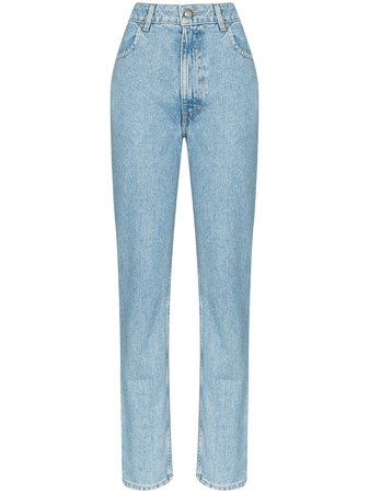 Eckhaus Latta Faded High Rise Jeans - Farfetch