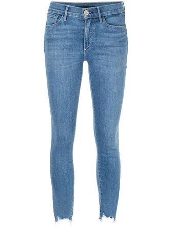 Black 3X1 Cropped Skinny-Fit Jeans | Farfetch.com