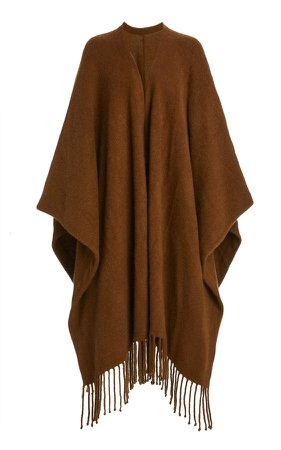 Co Fringed Cashmere Cape