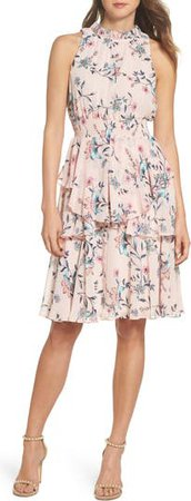 Floral Ruffle A-Line Dress | Nordstrom