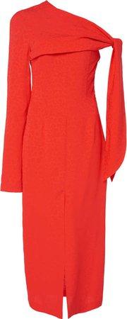 Open Shoulder Wool Dress