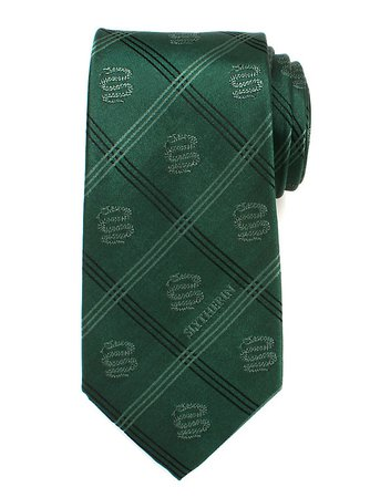 Harry Potter Slytherin Plaid Tie