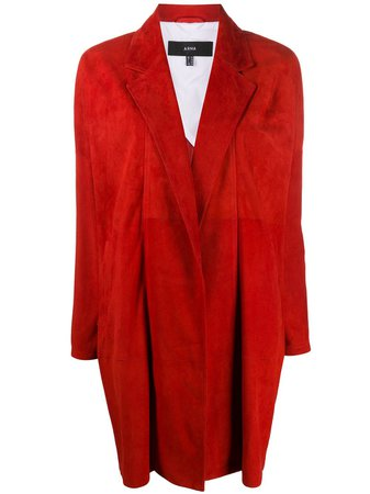 Arma single breasted notched-lapel coat red 005L20104502 - Farfetch