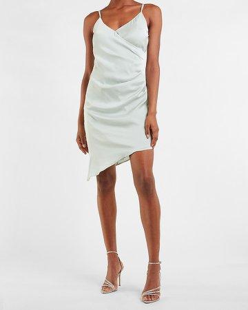 Ruched Side Wrap Mini Dress